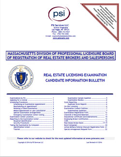 MA Real Estate Candidate Information Bulletin